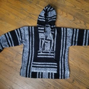 Boys Poncho Hoodie From Mexico
